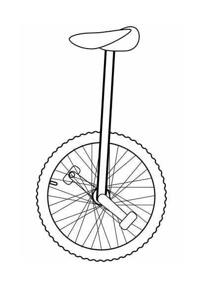 Unicycle Coloring Pages Outline Drawing Clipart Printable