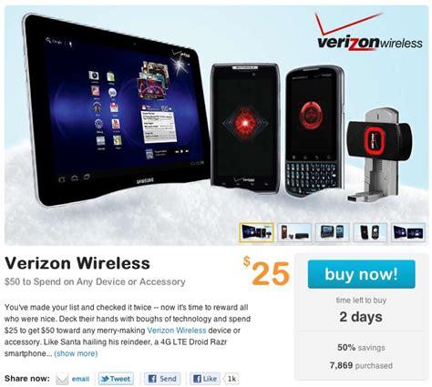 verizon smartphone deals living social deal 25 for 50 worth of verizon