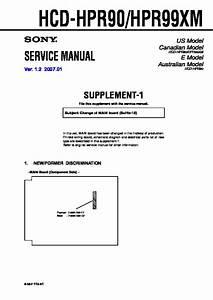 Sony Hcd-hpr90  Hcd-hpr99xm Service Manual