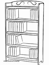 Bookcase Drawing Bookshelf Draw Coloring Pages Shelf Drawings Bookshelves Simple Books Easy Library Step Printable Tocolor Paintingvalley Clipart Journal Detailed sketch template