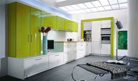 lime green and orange kitchen cuisine verte pour un int 233 rieur naturel et doux 9032