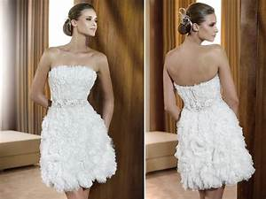 white strapless little white wedding dress textured With little white wedding dress