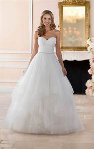 wedding dresses layered ball gown wedding dress stella With stella york moscato wedding dress