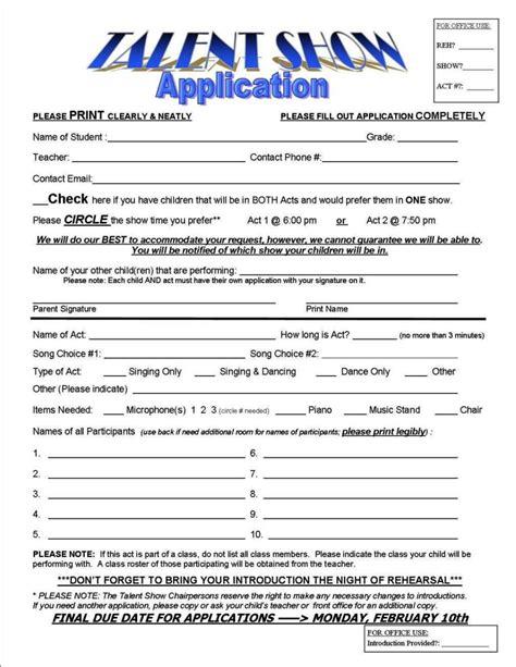 talent show sign  sheet template sampletemplatess