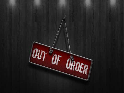One Week Out Of Order! Dark