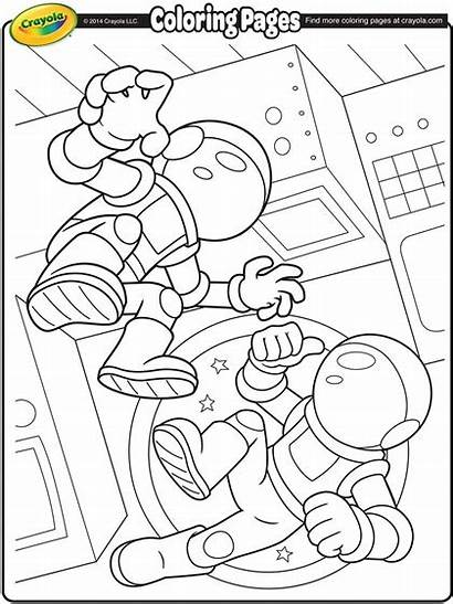 Astronauts Crayola Coloring Space Pages Printable Astronaut