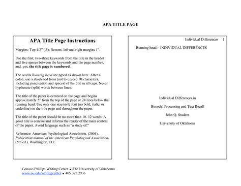 Apa Research Paper Heading Example