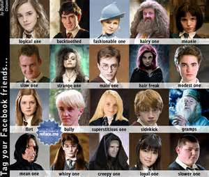 Harry Potter Character Tagging Pictures for Facebook