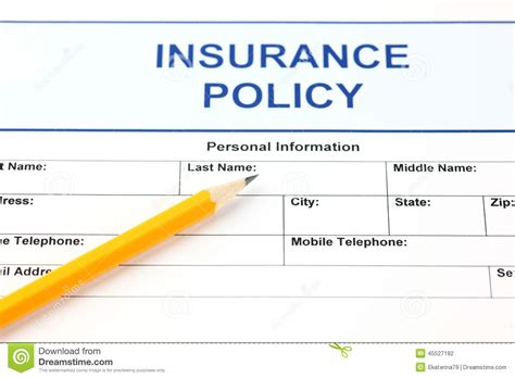 up policy insurance policy stock photo image 45527182