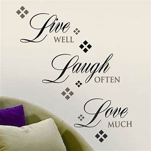 Live love laugh wall decal art pinterest for Live laugh love wall decal