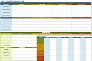 swot analysis template excel calendar monthly printable With competitor research template