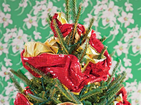 how to wrap a christmas tree with ribbon how to wrap ribbon on a tree southern living