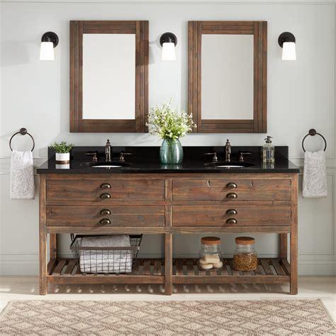 benoist reclaimed wood console double vanity