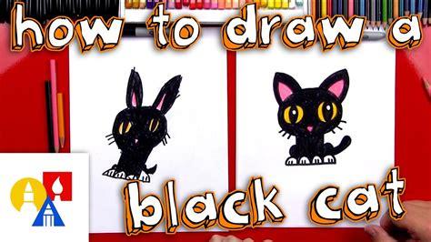 draw  cartoon black cat youtube