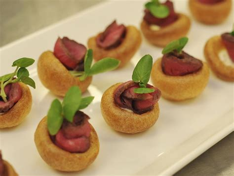 beef canapes recipes mini puddings with roast beef horseradish