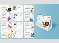 Conjunto completo de 12 meses, diseño de calendario anual