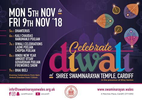 shree swaminarayan temple cardiff diwali celebrations shree