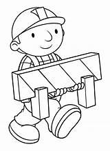 Builder Bob Coloring Printable Animated Cartoon Cartoons Sheets Construction Drawing Drawings Mobile sketch template