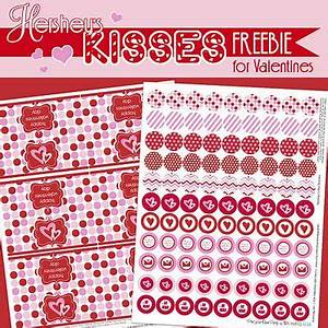 free valentine printables hershey kiss circles tags With hershey kiss labels template