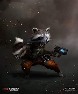 Rocket Raccoon Digital Fan Art by Jens Fiedler — GeekTyrant