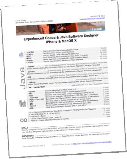 resume format resume format  xml