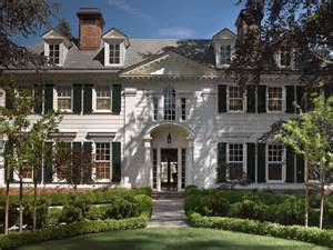 beautiful colonial style mansions white brick home traditional home exterior jeffrey