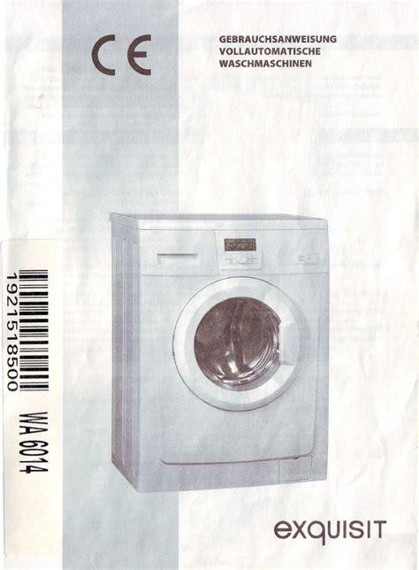 Exquisit Spülmaschine Reset by Bedienungsanleitung Exquisit Wa 6014 Seite 1 20