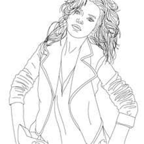 coloriages coloriage du top model kate moss frhellokidscom