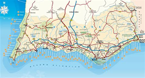 stadtplan von algarve detaillierte gedruckte karten von