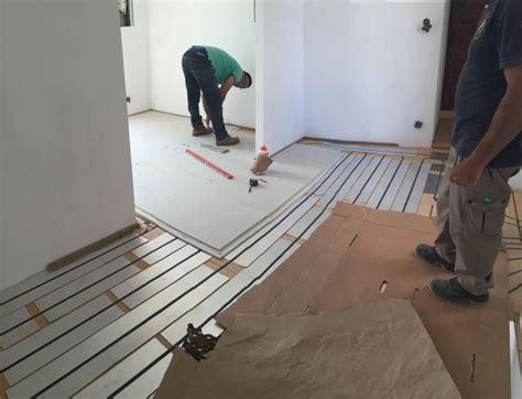 chape plancher chauffant la chape s 232 che ou liquide pour plancher chauffant par caleosol