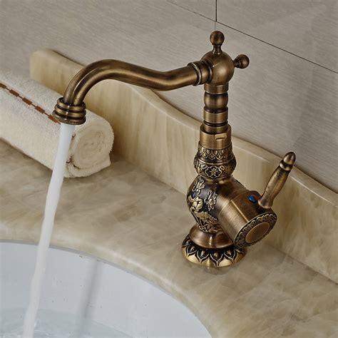antique kitchen sink faucets antique brass deck mount kitchen faucet one handle 4103
