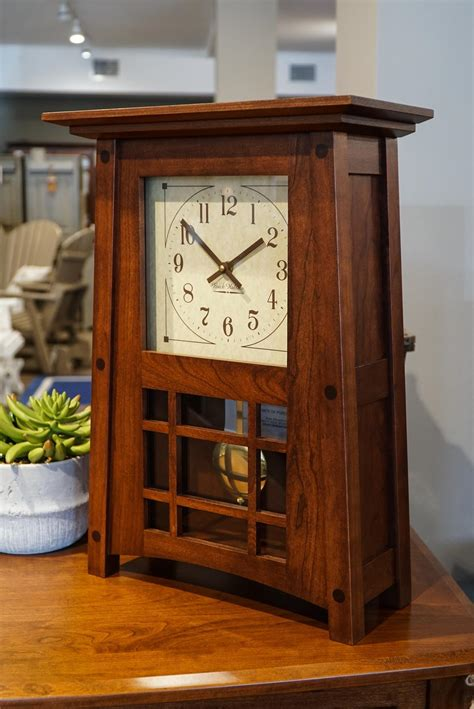 amish mccoy mantle clock  dutchcrafters