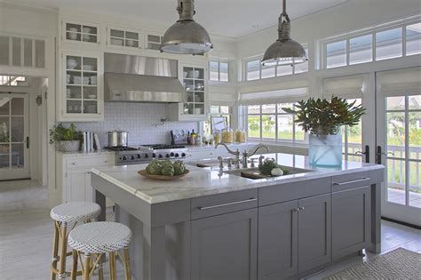 gray kitchen island cottage kitchen grace