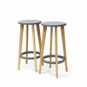 Tabouret Bois Design Gris Harry39s Par Drawer