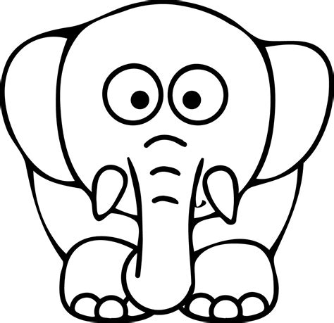 Coloring Pages Elephant Face Coloring Pages