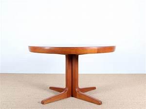 Pied Table Scandinave : table scandinave en teck pieds central 4 8 pers galerie m bler ~ Teatrodelosmanantiales.com Idées de Décoration