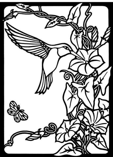 Pretty Hummingbirds And Flower Coloring Pages Pretty