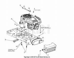 Troy Bilt 13a877bs066 Pony 42x  2019  Parts Diagram For