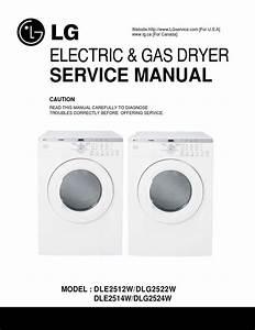 Lg Dle2512w Dlg2522w Dle2514w Dlg2524w Dryer Service