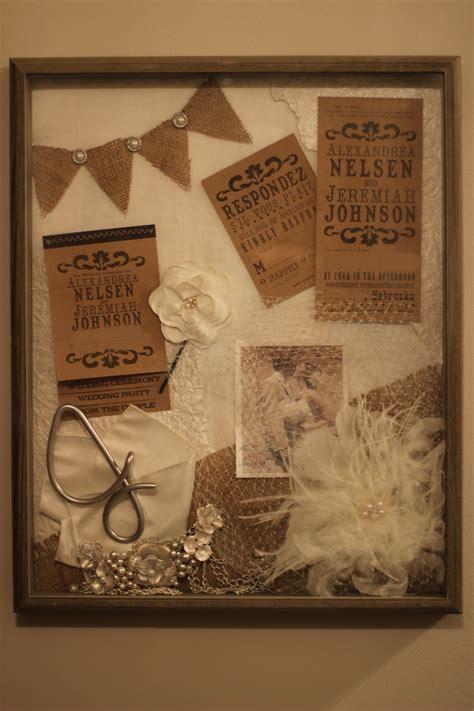 diy wedding shadow box grace elizabeths