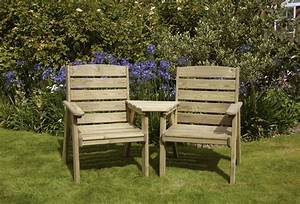 Wooden Garden Furniture In Exclusive Design With Bench And
