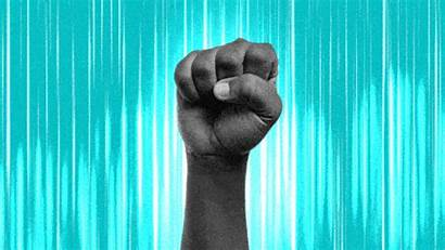 Gifs Raised Fists Power Angelou Maya Giphy