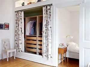 Kleiderschrank Alternative Ideen : un armario renovado con cortinas decoracion in ~ Sanjose-hotels-ca.com Haus und Dekorationen