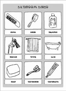 bathroom vocabulary for kids learning english printable With words related to bathroom