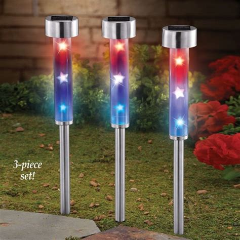 solar patriotic garden stakes fresh garden decor