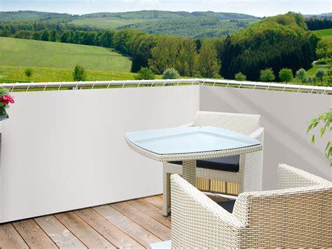 amenagement cuisine salon salle a manger brise vue pour balcon 85 occultant 5xh0 9m sylt blanc