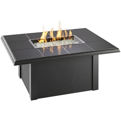 patio propane fire pit table napa valley propane fire pit table by outdoor greatroom