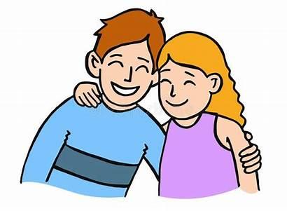 Sister Brother Hugging Clipart Sisters Hug Cartoon