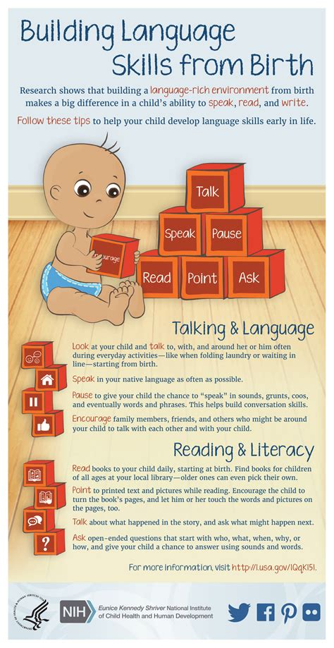 infographic building language skills  birth nichd