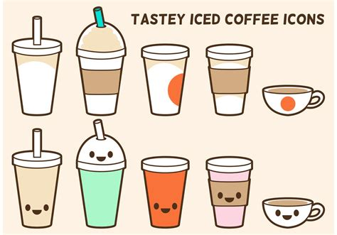 Coffee market poster flat vector template. Iced Coffee Vector Icons 88458 - Download Free Vectors, Clipart Graphics & Vector Art